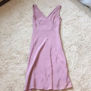 JCrew Purple/Pink Silk V Neck Dress